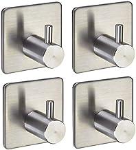 4 stuks SOTECH wandhaken Pandora 45 x 45 x 30 mm RVS zelfklevend voor keuken en badkamer