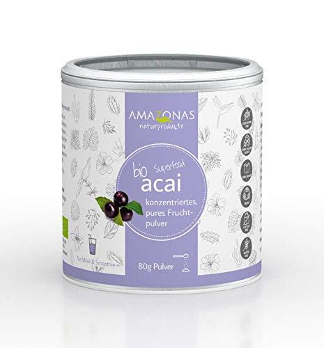 Amazonas Naturprodukte Bio Acai Premium Fruchtpulver Pur (1 x 80 g)