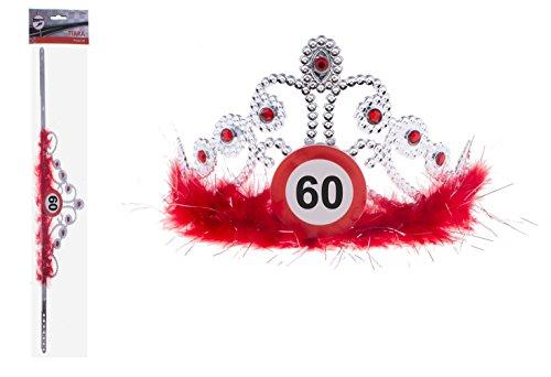 Karneval-Klamotten Krone Geburtstag Verkehrszeichen 60 Jahre