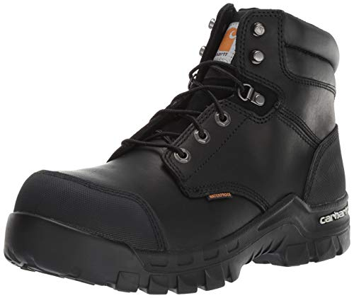 Carhartt Men's CSA 6-inch Rugged Flex Wtrprf Work Boot Comp Safety Toe CMR6971 Industrial, Black Oil Tanned, 10 W US