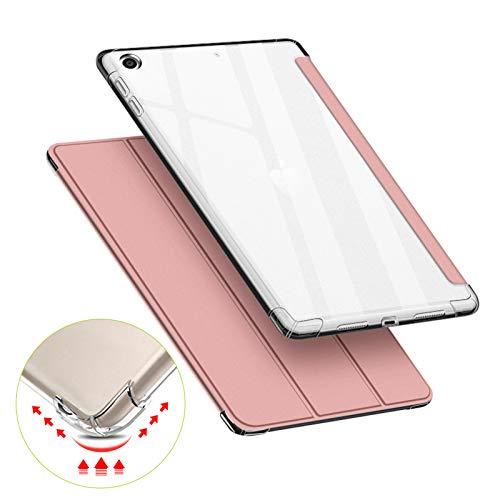 VAGHVEO Custodia per iPad Mini 4 5 7,9 Pollici, Flessibile Silicone TPU Trasparente Cover Retro, Sottile Leggero Auto Svegliati Sonno Case Antiurto Resistente per Apple iPad Mini 4 5 Tablet, Oro Rosa