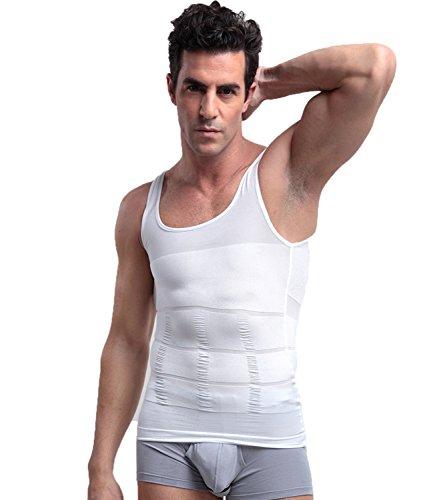TieNew Faja Chaleco Hombre Adelgazante Reductora Compresion Elástica de Ropa Interior, Camiseta Faja Abdominal Entallada Reductora Moldeadora Quemagrasas Adelgazante para Hombre ✅