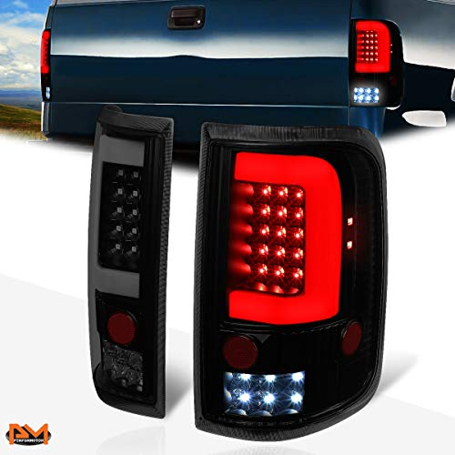 Compatible with Ford F-150/Lobo 04-08 3D LED C-Tube Bar Tail Light Stop/Reverse Lamp Tinted