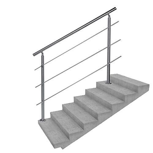 LIUSU-Stair handrail Barandillas de Escalera Antideslizantes para 1 o 5 escalones Pasamanos de Acero Inoxidable con Kit de instalación Pasamanos para escaleras Interiores y Exteriores 🔥