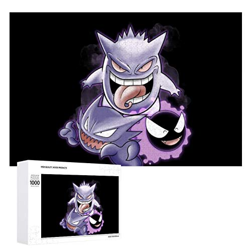 Sweet Dreams Ghastly Haunter Gengar Monster Of The Pocket Puzzles, interesting wooden puzzles, decompression gift picture puzzles, 1000 individual picture puzzles.