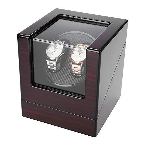 自動時計ワインダー、静かなモーターフィットレディーアンドマン自動時計付きPUレザーウォッチディスプレイボックスの回転時計ワインダー(4タイプ)(2#)