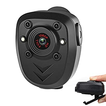 Mini Body Camera Video Recorder Wearable Police Body cam with Night Vision Built-in 32GB Memory Card HD1080P,Record Video,Night Vision 4-6HR Battery Life Law Enforcement Security Guard Home