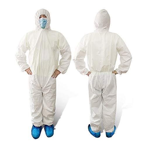 Schutzanzug Overall Multi Arbeitskleidung Einweg weiß gegen Chemie, Staub, Nuklearpartikel