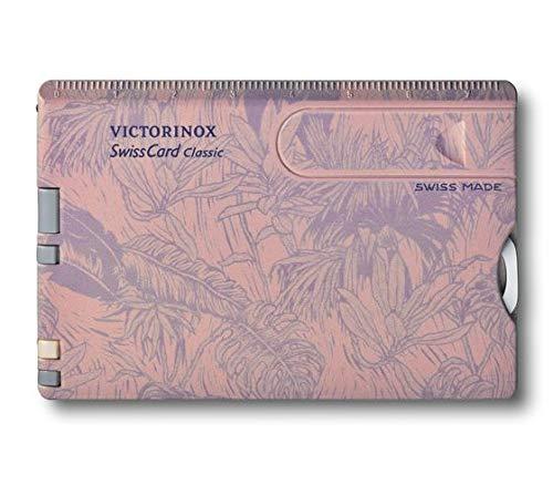 Victorinox SwissCard Classic Spring-Spirit (10 Funktionen, Schere, Stecknadel, Nagelfeile) blumen-print, für Damen