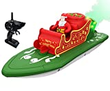 IOKUKI RC Boats for Kids & Adults with Mist Spray - Remote Control Boat for Pools & Lakes with Dual Motors / Low Battery Prompt, Great Christmas Pool Toy Gift for Boys & Girls - Green