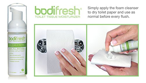 Bodifresh Toilet Paper Foam (Baby Scented) : Eco-Friendly, Non-Clogging Alternative to Flushable Wipes. Simply Apply to Folded Toilet Paper and Wipe. Septic Safe/All Natural/Aloe/Vitamin E