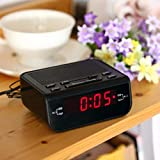 Electric LED Digital Alarm Clock Creative FM Radio Table Alarm Clocks
