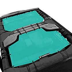 cheap Shadeidea Sun Shade for Jeep Wrangler JK Unlimited (2007-2018) 4-door Tiff Blue Mesh Screen…