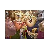 Grabadora de zanahoria Magia hermosa judy hopps TV mercancía Zootro-polis Zoo-to-pia Jigsaws puzzle de madera Desafiante Educativo para Adultos Niños cosas