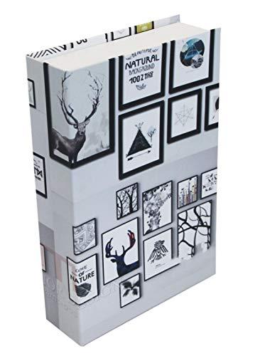 Decoratief boek holle lege doos brievenbus geschenkdoos geldbox, 22 cm x 14,8 cm x 4,7 cm