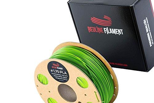 Filament 1.75 PLA 1kg für deinen 3D-Drucker - Hartkartonspule - Premium Qualität aus Holland (Apfelgrün)