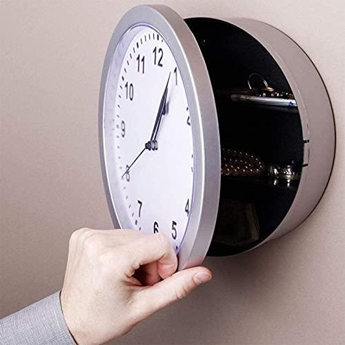 Reloj de almacenamiento de reloj de pared para el hogar, Reloj de pared seguro, Caja de almacenamiento de reloj retro, Caja de almacenamiento de joyas