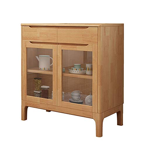 KDOAE Gabinete Lateral Madera Accent Buffet aparador Gabinete de Almacenamiento con Puertas de Entrada Cocina Comedor Consola de la Sala de Estar para Sala de Estar (Color : Wood, Size : 80x40x85cm)