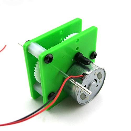 Lruirui-Motor DC Motor Solar de la Caja de Engranajes de reducción de 1pcs 300, relación 1: 12.1 Motor de Engranajes de Hobby, para el Coche de Juguete de Cuatro Ruedas DIY, Larga Vida útil