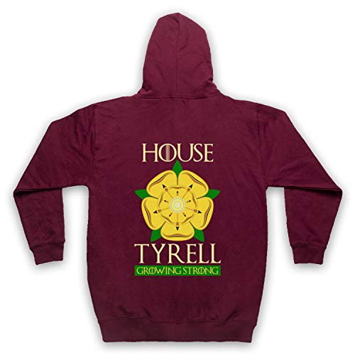 Inspired Apparel Inspirado por Game of Thrones House Tyrell No Oficial Adultos Sudadera con Capucha con Cremallera
