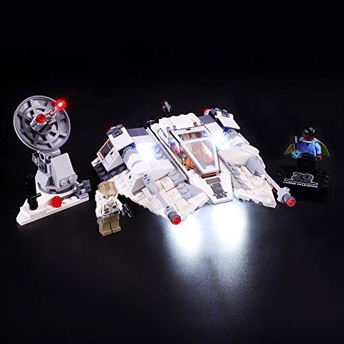 BRIKSMAX Kit di Illuminazione a LED per Lego Star Wars Snowspeeder,Compatibile con Il Modello Lego 75259 Mattoncini da Costruzioni - Non Include Il Set Lego.