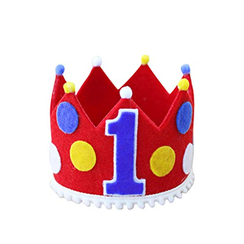 Amosfun Una Corona de Sombrero de Cumpleaños Diadema de Sombrero para Niños Tema de Circo Baby Shower Primera Fiesta de Cumpleaños Accesorios para El Cabello
