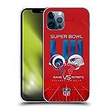 Head Case Designs Ufficiale NFL Rams vs Patriots 2 2019 Super Bowl LIII Versus Cover in Morbido Gel Compatibile con Apple iPhone 12 / iPhone 12 PRO