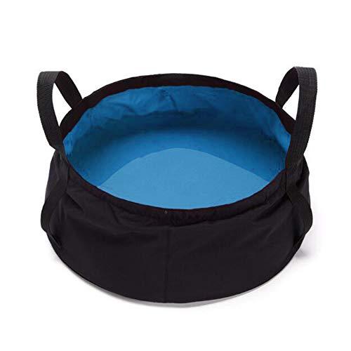 Cubo Plegable Camping Multifuncional Lavabo Portátil de Pesca Aire Libre Viaje Acampadas Senderismo 10 L (Azul)