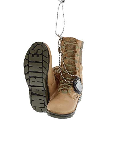 Support Our Troops Military Boot Ornament - Marines