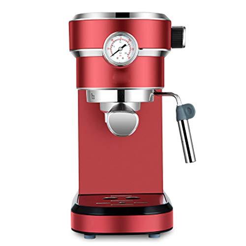 Traditionelle Kaffeemaschine, 15 bar, 850 W, italienische Kaffeemaschine, mit Schaummilch, 1,1 l, abnehmbarer Tank, für Milch, Cappuccino, etc. rot