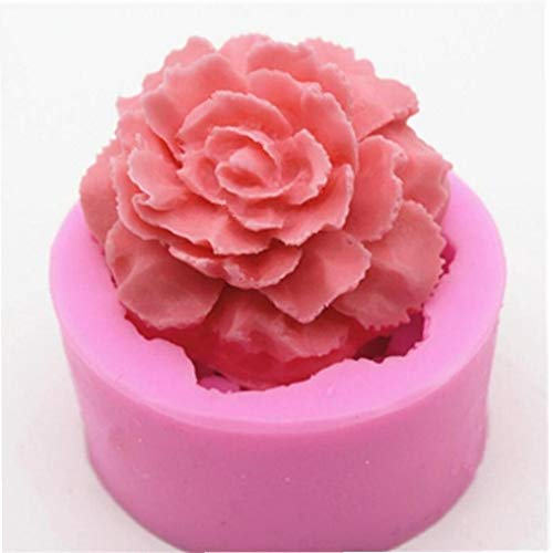 3D Flower Soap Mold Big Flower Cake Decoration Candle Clay Silicone Moulds Kitchen Baking Moulds