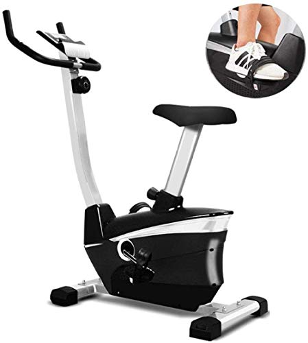 Bicicleta de Ejercicio + Pantalla Compatible con cinturón de Pulso de Masa de Volante de 8 kg - Bicicleta de Entrenamiento con Bicicleta silenciosa