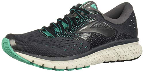Brooks Womens Glycerin 16 Running Shoe - Ebony/Green/Black - D - 9.0
