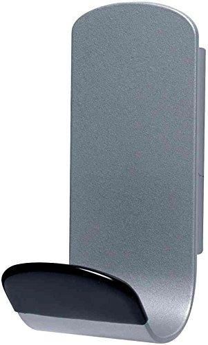 UNILUX Lot de 3 Patères magnétique STEELY 381 Capacité 12 Kg Gris métal