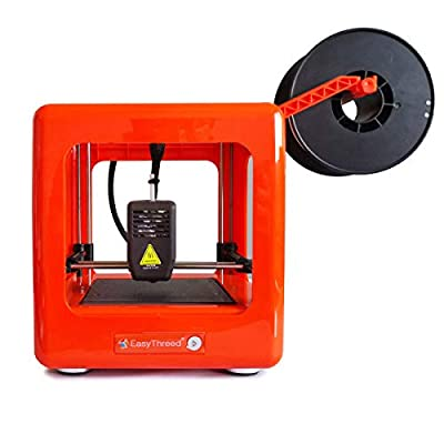 Easythreed Desktop 3D printer Mini Diy printer,Removable Building Platform,Small and light, Very low noise?High printing accuracy ?Easy Operation suitable for beginners of 3D printing (Orange)