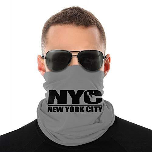 Bandanas Face Mask for Men & Women, New York City Multifunctional Neck Gaite Breathable Headwear Sprots Balaclava Windproof UV Sun Protection Scarf White