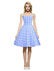 commercial Maggie Tan Women's Vintage 1950s  60s Vintage Print Plaid Casual Dress Blouse XL maggie tang vintage
