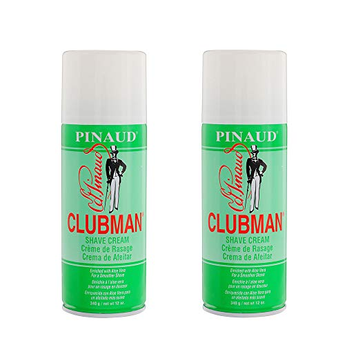 Clubman Pinaud Shave Cream, 12 oz x 2 pack