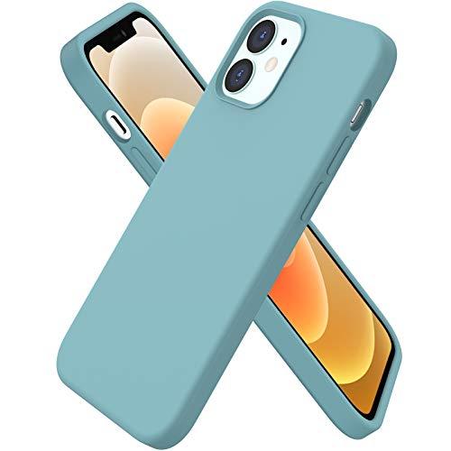 ORNARTO Custodia Compatibile con iPhone 12 Cover Sottile 6,1,Compatibile con iPhone 12 PRO Cover Silicone Liquido Protezione Completa in Gomma Gel Morbida con Fodera in Microfibra 6,1 Cactus