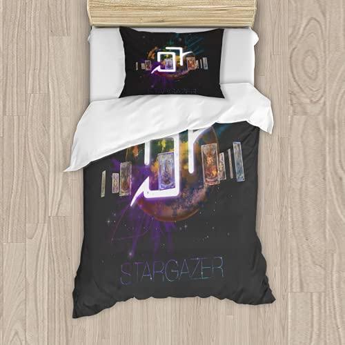 FFXIV - Juego de cama reversible de 3 piezas para niños, adolescentes, niños y niñas (1 funda de edredón y 2 fundas de almohada) para cama individual de 90 x 188 cm