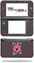 MightySkins Skin Compatible with Nintendo New 3DS XL (2015) - Donut Kawaii   Protective, Durable, and Unique Vinyl Decal wrap Cover   Easy to Apply, Remove, and Change Styles   Made in The USA