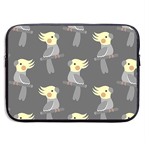 Cute Cockatiel Laptop Sleeve- Stylish Cute Neoprene Notebook Handbag 33cm*25.5cm*3.5cm