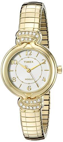 Timex Women's TW2P613009J Main Street Collection Analog Display Quartz Gold Watch