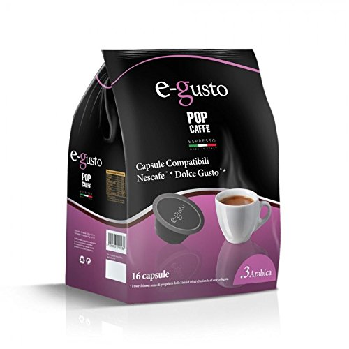 160 capsules Pop café e-gusto mélange 3 arabico compatible Nescafe 'Dolce Gusto machine à cafè