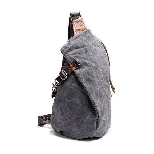Wasserdichte gewachste leinwand männer und Frauen kleine Schultertasche rucksäcke für wandern Biken Reise Outdoor Casual Brust Taschen
