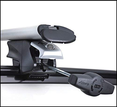 Atera RTD 048537 Träger für Fahrzeuge mit direktaufliegender Reling, AERO-Profil TRAGROHR : Profil 80 x 30 mm 137cm lang
