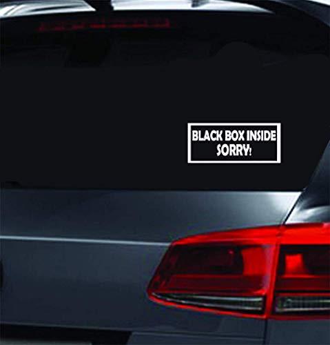 Aufkleber Folie Auto Black Box Inside Entschuldigung! Lustiger/junger Fahrer-Autofenster-Autoaufkleber für Auto-Laptop-Fenster-Aufkleber