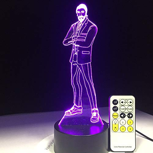 Mddjj The Battle Game 3D Lamp Arylic Panel Rgbw Changeable Led Mood Lamp 7 Colors Night Light For Birthday Gift Drop Shipping Schlafzimmerdekoration