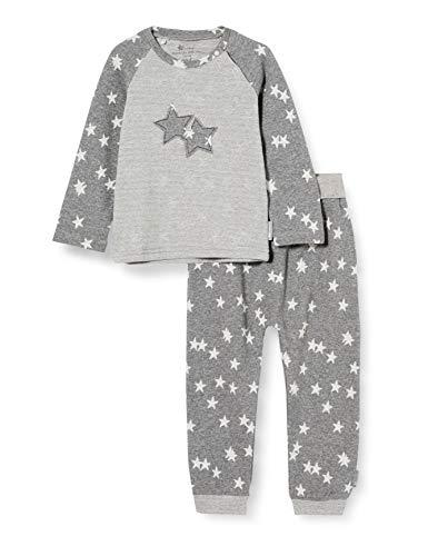 Sterntaler Unisex Kinder Set Langarm-shirt U. Langarm Shirt und Hose mit elastischem H ftbund elastischen Beinb ndchen Stern Motiven, Eisengrau, 80 EU