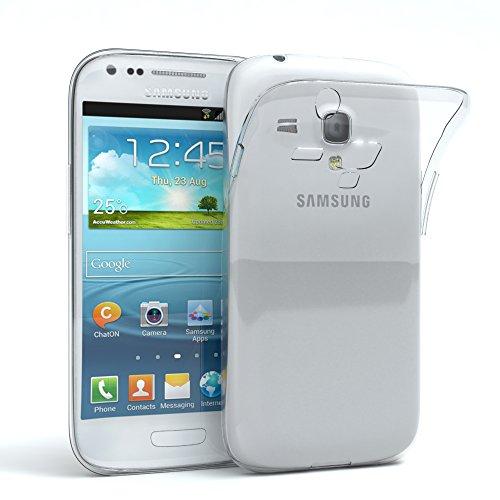 EAZY CASE Hülle kompatibel mit Samsung Galaxy S3 Mini Schutzhülle Silikon, Ultra dünn, Slimcover, Handyhülle, Silikonhülle, Backcover, Durchsichtig, Klar Transparent